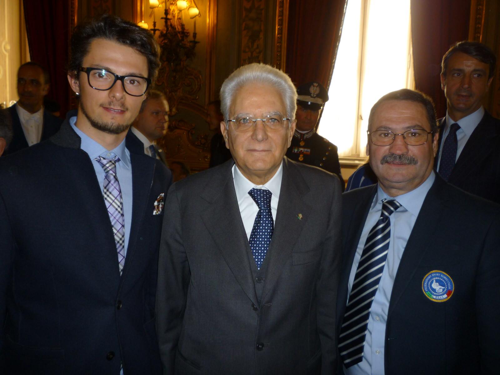 Il Presidente della Repubblica riceve una rappresentanza di atleti italiani