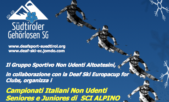 29-31 Gennaio, Val d'Ultimo (BZ). Deaf Ski Europacup for Clubs