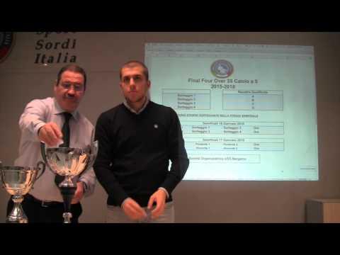 """Sorteggio – Calcio A5/M """"Over35"""" Girone A-B-C-D e Fase Finale"""