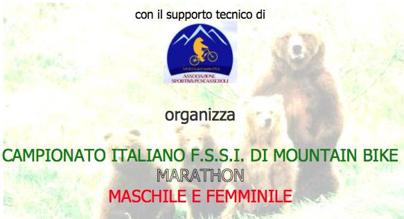 4 Settembre, Pescasseroli (AQ). Campionato FSSI di MTB Marathon M/F