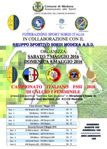 La FSSI in collaborazione con il Gruppo Sportivo Sordi Modena ASD 764adb07221c0