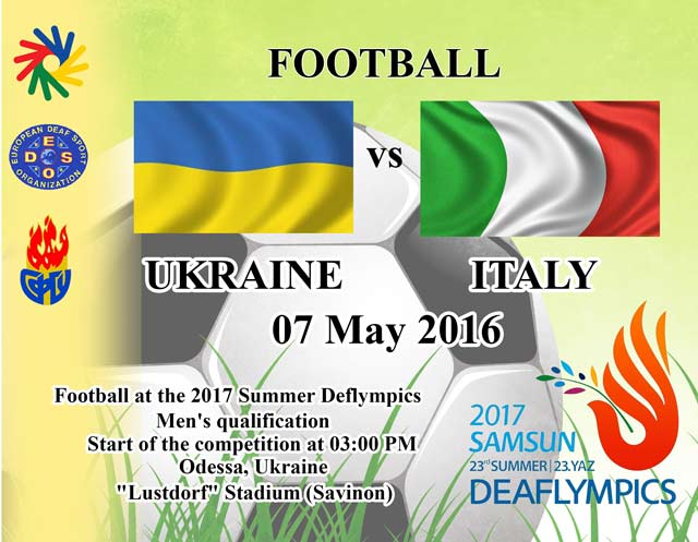 7 Maggio, Ucraina-Italia. Qualificazioni di Calcio A11