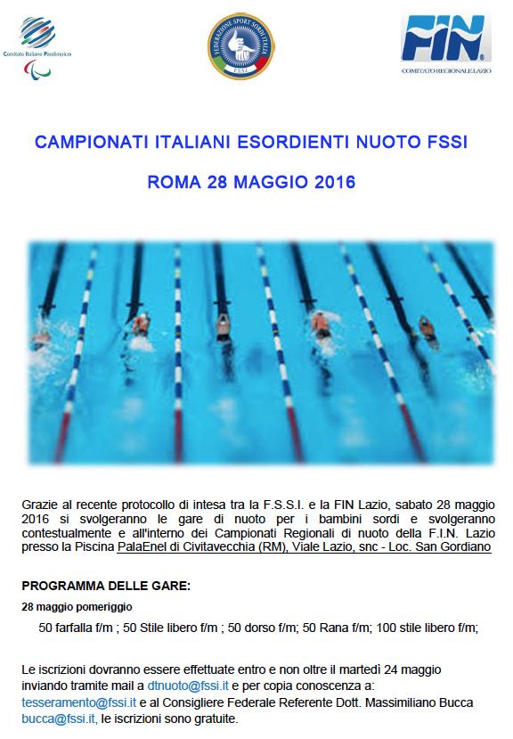 Fin Nuoto Calendario Gare.Campionati Esordienti Di Nuoto Fssi Fssi