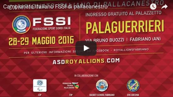 Diretta ore 11, Campionato Italiano FSSI di Pallacanestro/M