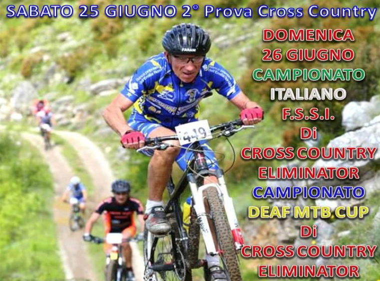 25 Giugno, Toano (RE). Deaf MTB Cup 2016 – 2° Prova Cross Country