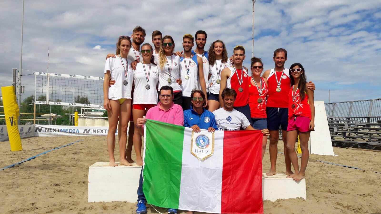 Relazione, risultati e foto del Campionato FSSI di Beach Volley M/F svoltosi a Cesenatico