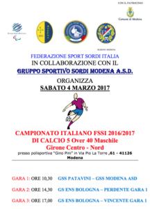"""Qualificazioni Campionato Calcio A5 """"Over40"""" – Girone Centro-Nord fd20444b77d01"""