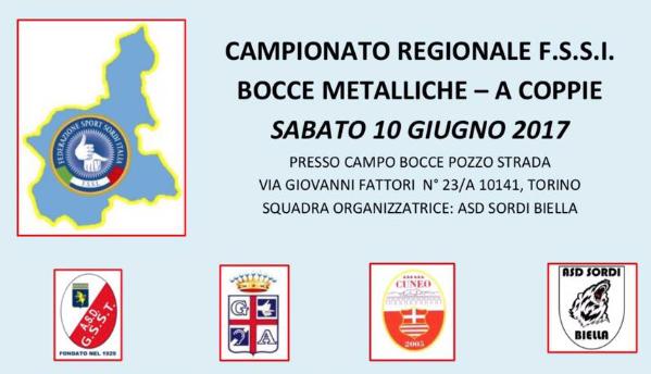 10 Giugno, Torino. Campionato Regionale FSSI di Bocce Metalliche