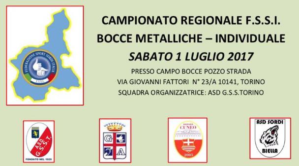 1 Luglio, Torino. Campionato Regionale FSSI di Bocce Metalliche