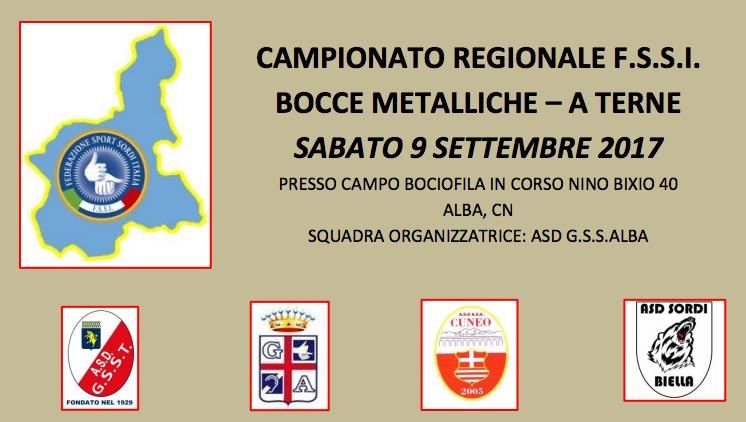 9 Settembre, Alba (CN). Campionato Regionale FSSI di Bocce Metalliche