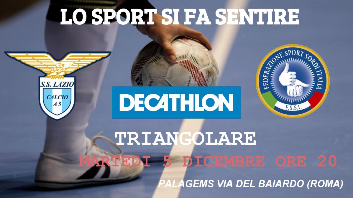 5 Dicembre, Roma (RM). Triangolare di Calcio A5