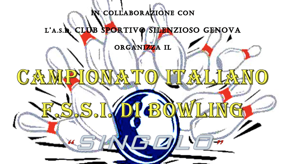 27-28 Gennaio, Torino (TO). Campionato FSSI di Bowling Singolo M/F