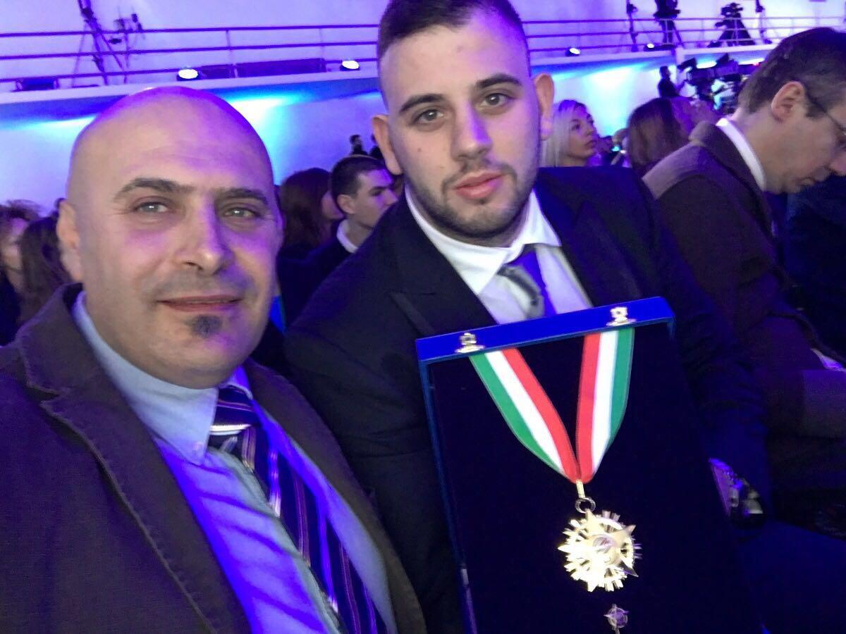 Roma, riconoscimento sportivo all'atleta azzurro Pasquale Longobardi