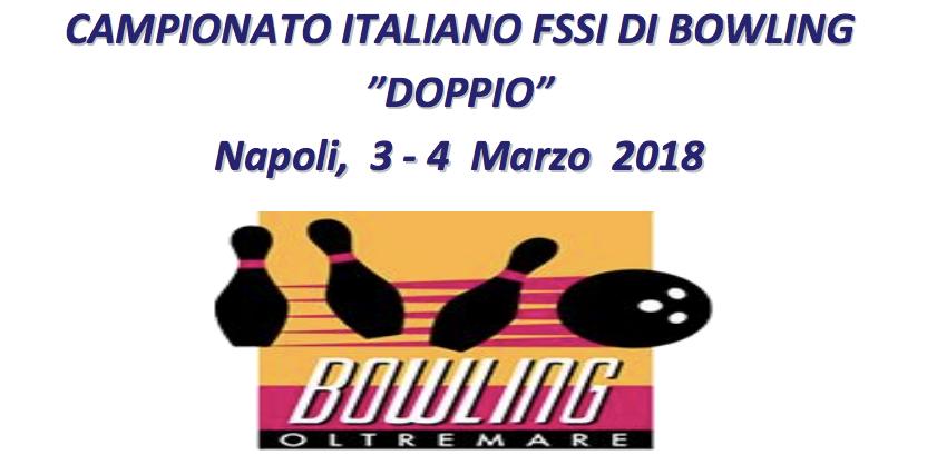 3-4 Marzo, Napoli (NA). Campionato FSSI di Bowling Doppio M/F