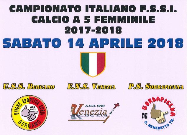 14 Aprile, Chiuduno (BG). Campionato FSSI di Calcio A5 Femminile