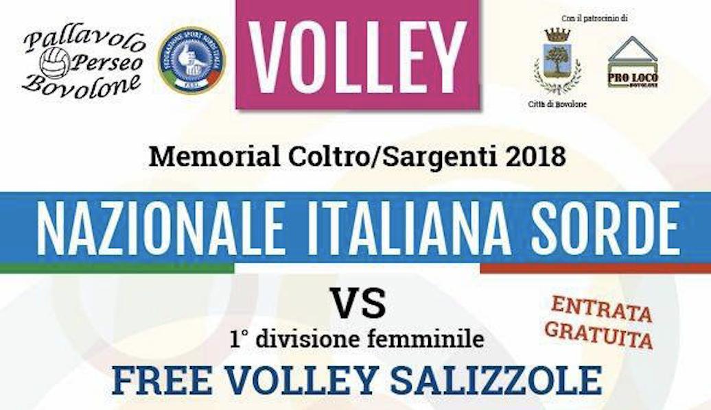 3 Marzo, Bovolone (VR). Memorial Coltro/Sargenti 2018 di Pallavolo Femminile