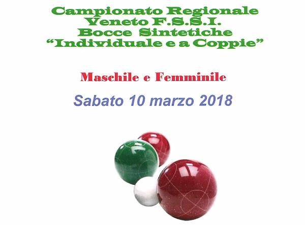 10 Marzo, Mestre (VE). Campionato Regionale FSSI di Bocce Sintetiche