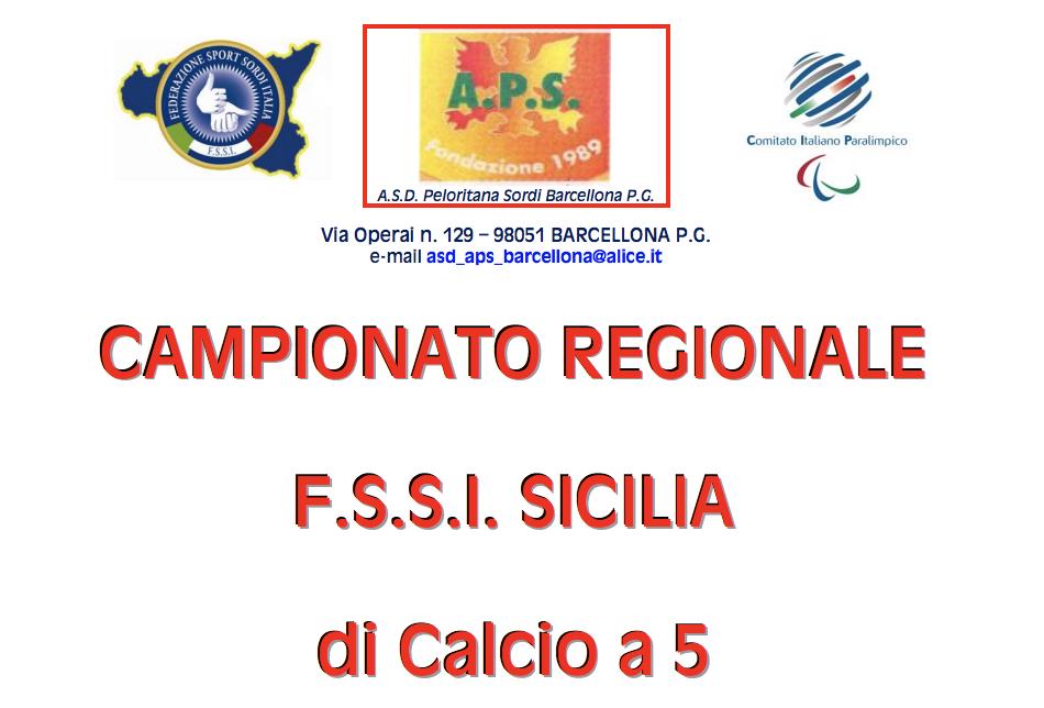 15 Aprile, Barcellona (ME). Campionato Regionale FSSI di Calcio A5