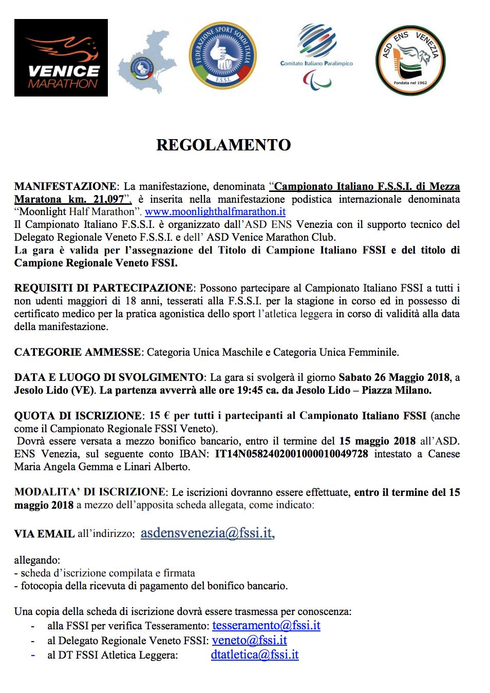 Calendario Mezze Maratone 2020 Italia.Atletica Leggera Mezza Maratona Fssi