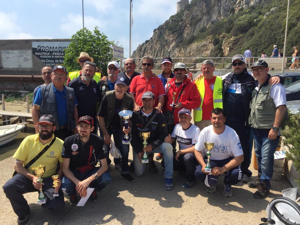 Torneo Amatoriale di Pesca a Coppie da Natante svoltosi a San Felice Circeo (LT) il giorno 22 Aprile 2018