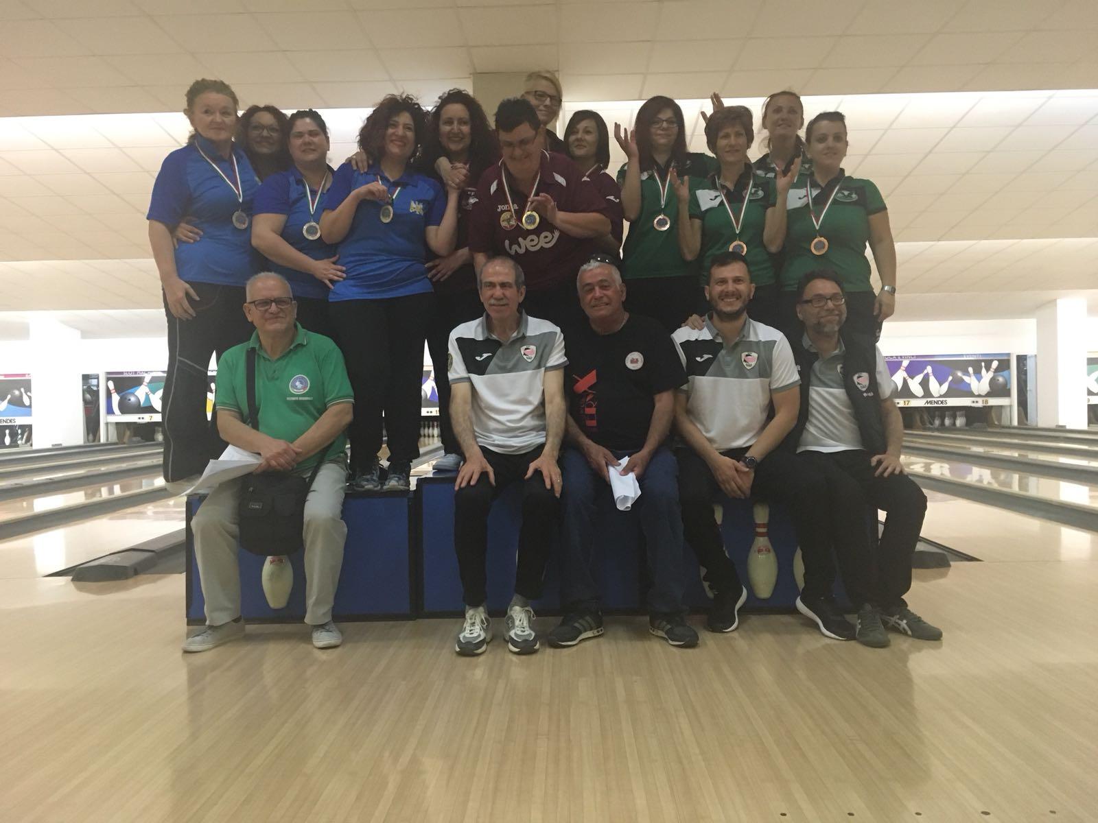Risultati e foto del Campionato Regionale FSSI di Bowling M/F svoltosi il 12 Maggio