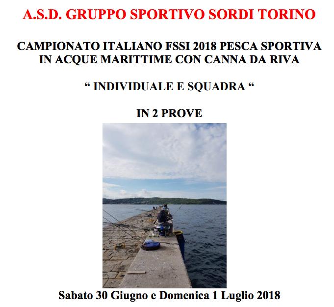"""30-1 Luglio, Trieste (TS). Campionato FSSI di Pesca Sportiva """"Canna da Riva"""""""
