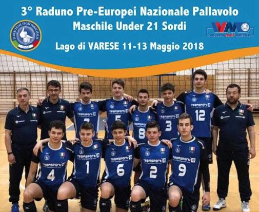 """11-13 Maggio, Lago di Varese (VA). 3° Raduno Pre-Europei Nazionale di Pallavolo/M """"Under21"""""""