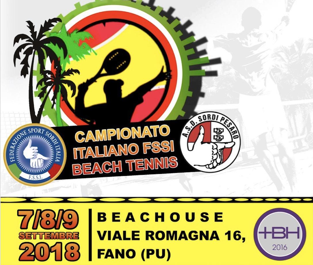 7-9 Settembre, Fano (PU). Campionato FSSI di Beach Tennis M/F