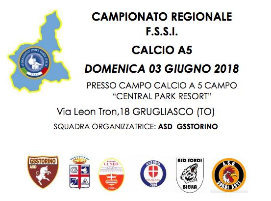 3 Giugno, Torino (TO). Campionato Regionale FSSI Piemonte di Calcio A5