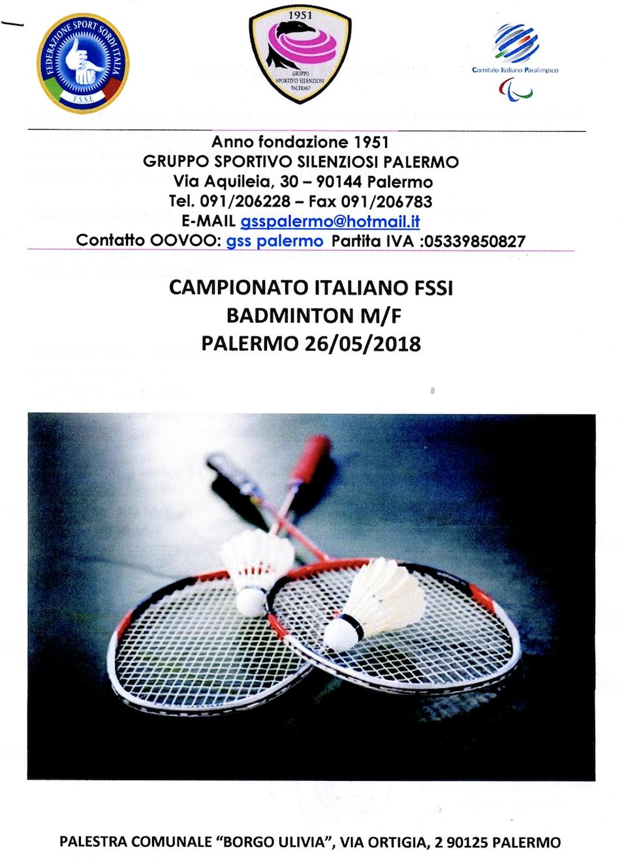 BADMINTON – Campionato Italiano  764b8ec016a9c