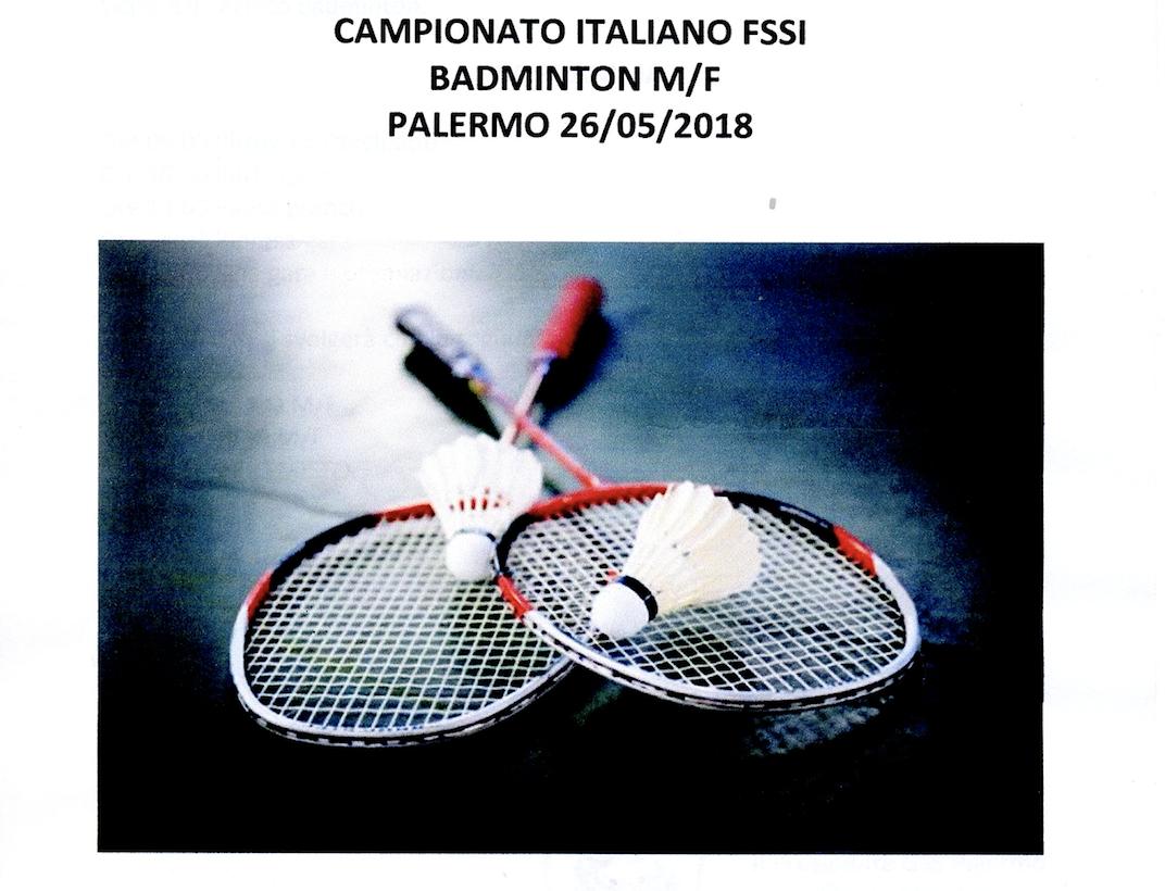 26 Maggio, Palermo (PA). Campionato FSSI di Badminton M/F