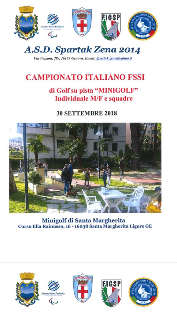 La F.S.S.I. indice ed organizza con la collaborazione dell A.S.D. Spartak  Zena e con l assistenza tecnica FIGPS (Federazione Italiana Golf su Pista) 3248895e5e0b0