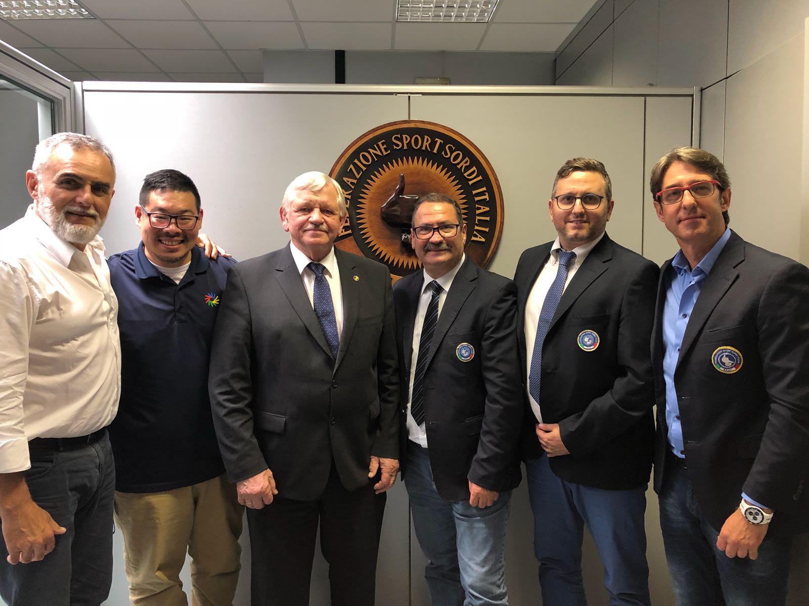 Roma, presso gli uffici della FSSI si è svolto l'incontro tra la FSSI e ICSD