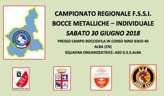 30 Giugno, Alba (CN). Campionato Regionale FSSI Piemonte di Bocce Metalliche