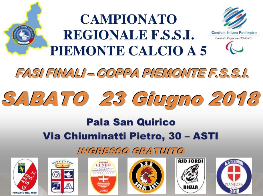 23 Giugno, Asti (AT). Campionato Regionale FSSI Piemonte di Calcio A5