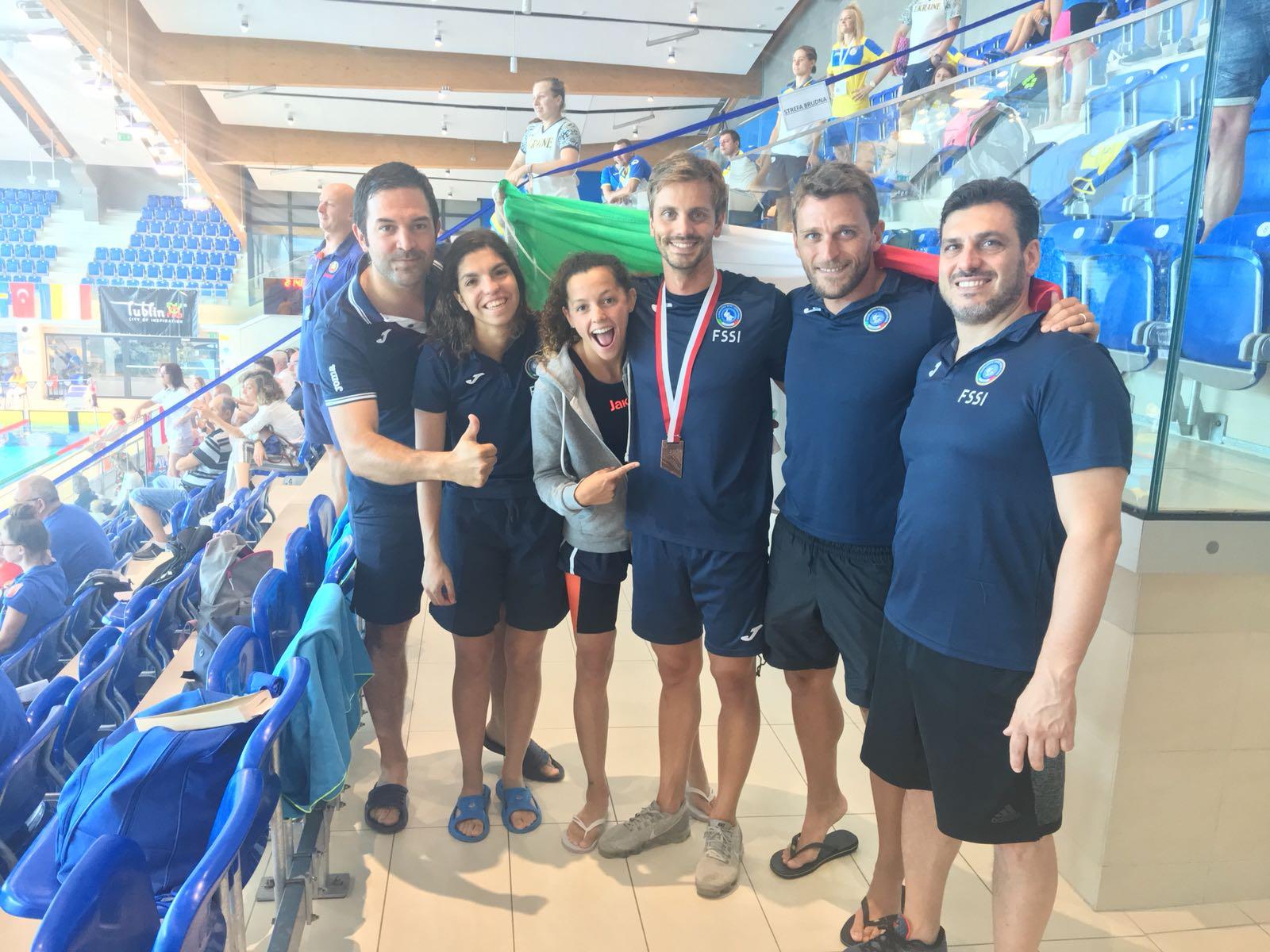 12th EC Swimming M/F a Lublin – Luca Germano conquista la medaglia di bronzo