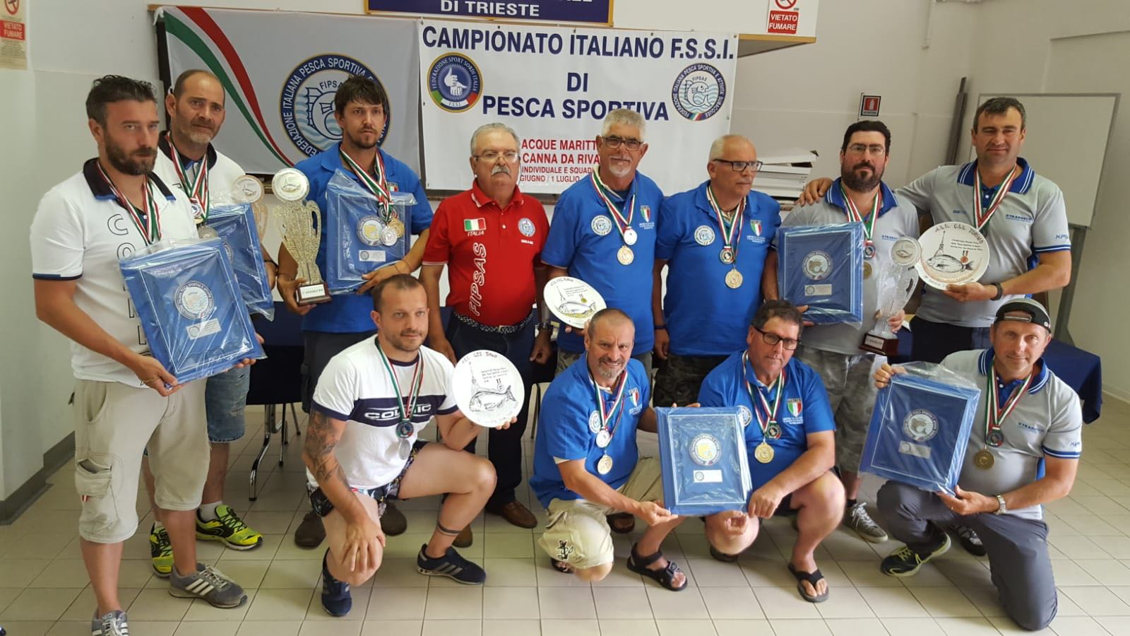 Campionato FSSI di Pesca Sportiva svoltosi il 30 Giugno – 1 Luglio 2018