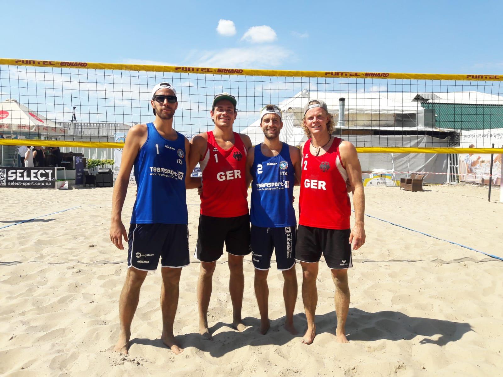 4th EC Beach Volley a Kiev – Gli azzurri perdono contro la Germania 2-0