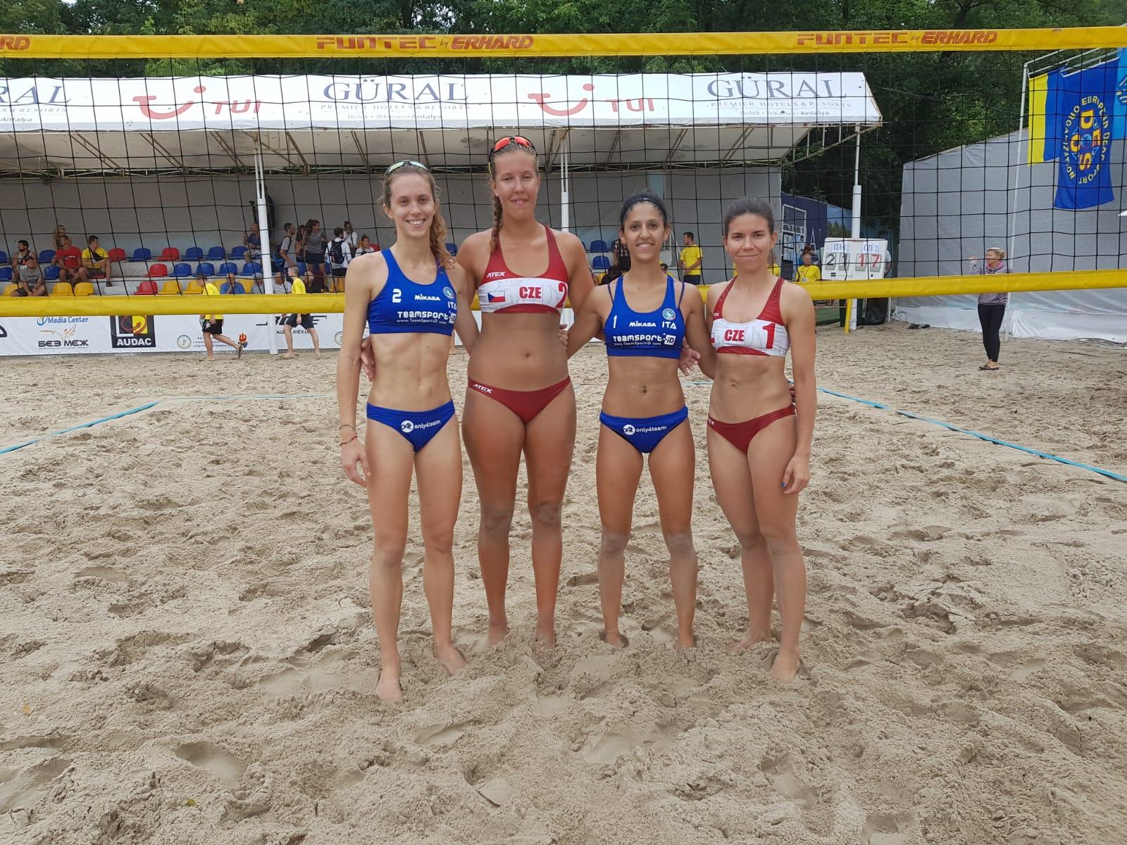 4th EC Beach Volley a Kiev – Le azzurre vincono contro la Repubblica Ceca 2-0