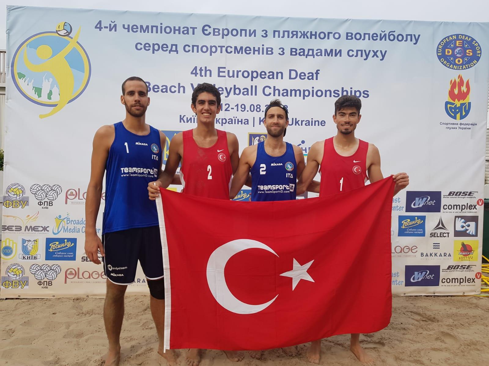 4th EC Beach Volley a Kiev – Gli azzurri vincono contro la Turchia 2-0