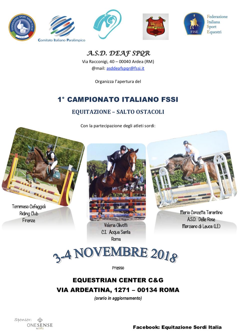 EQUITAZIONE – Campionato Italiano