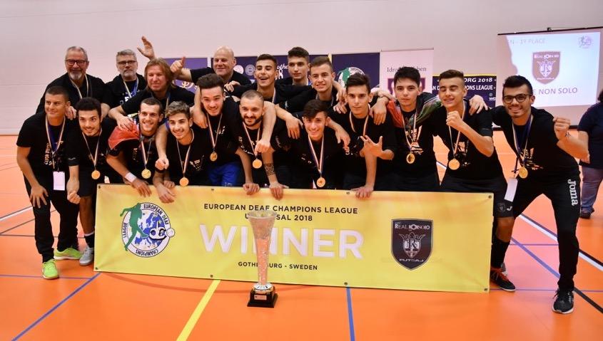 Il Real e Non Solo conquista la DCL Futsal U21 2018 a Göteborg