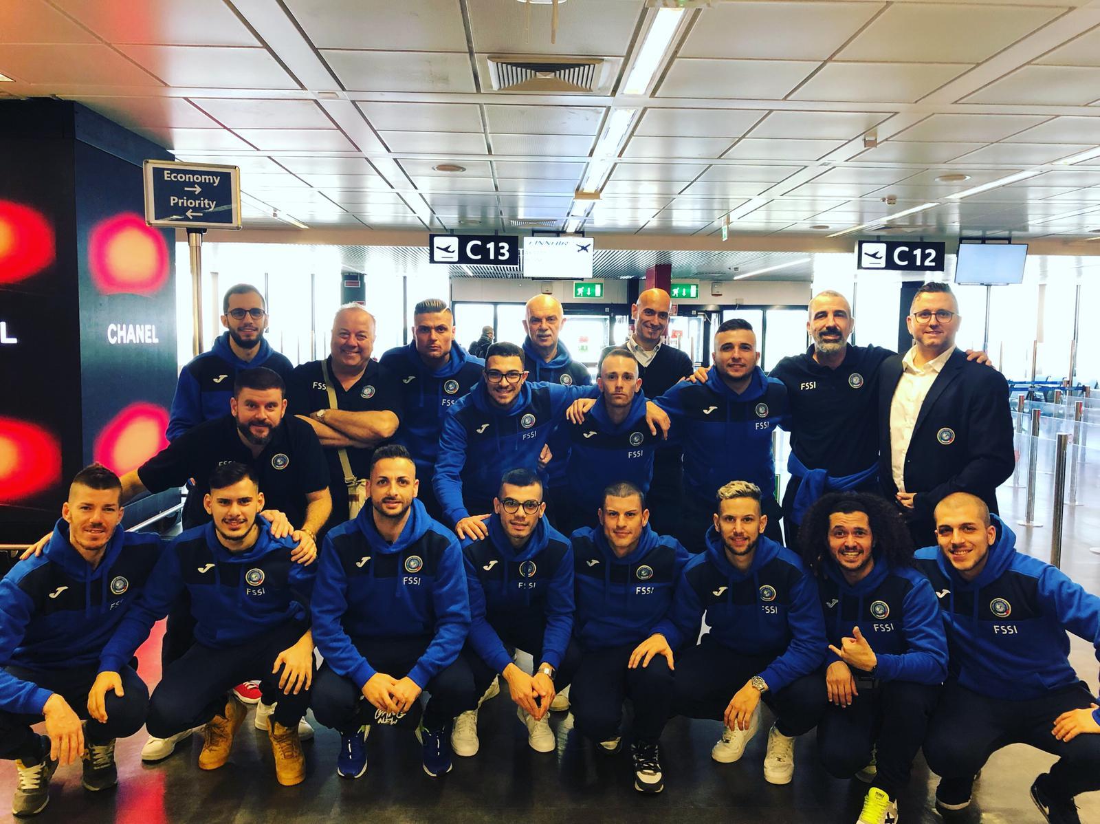 Gli azzurri della Nazionale di Calcio A5 partono per gli Europei a Tampere (FIN)