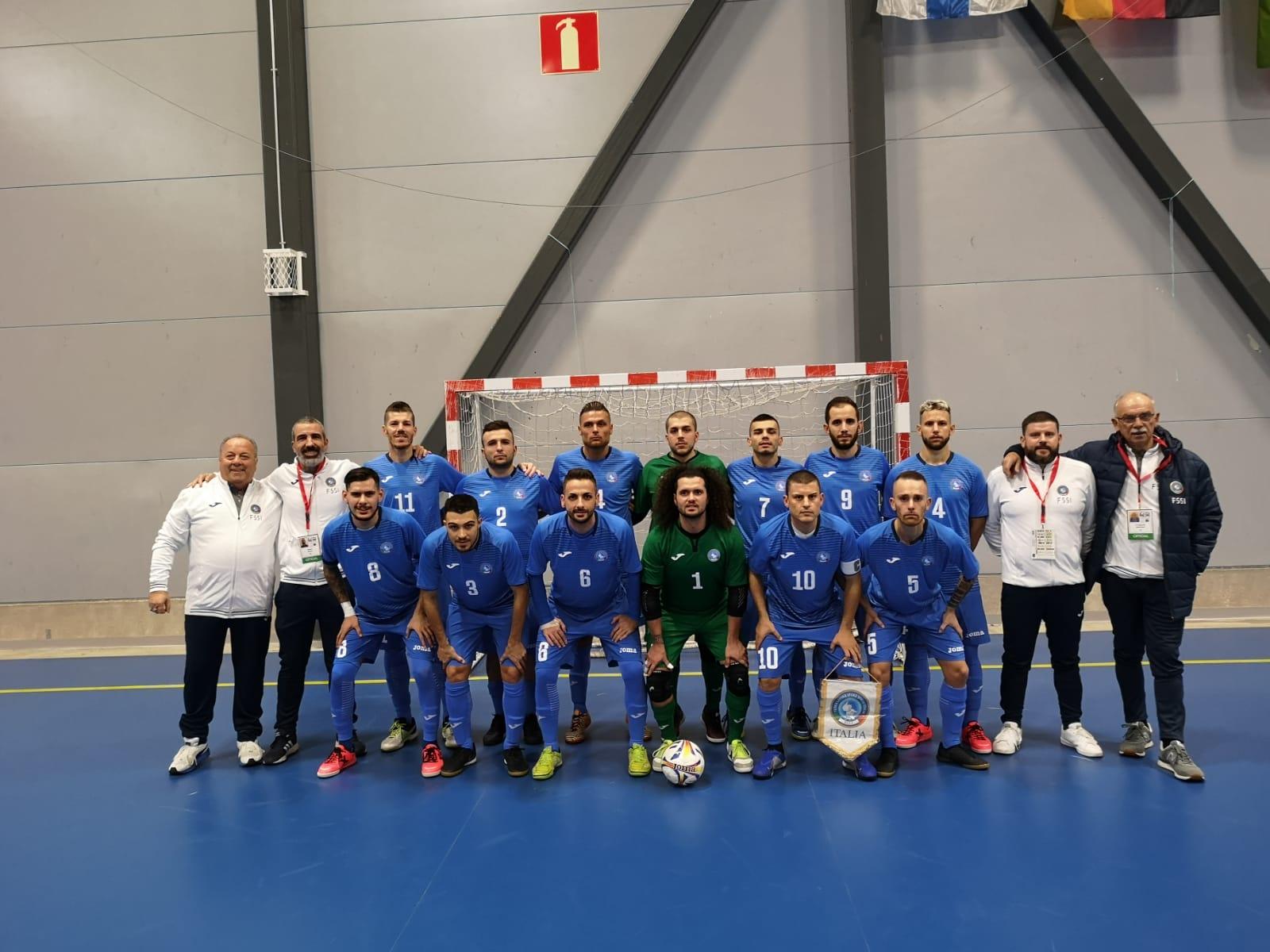 5° Campionato Europeo di Futsal a Tampere. Italia vs Repubblica Ceca 4-4
