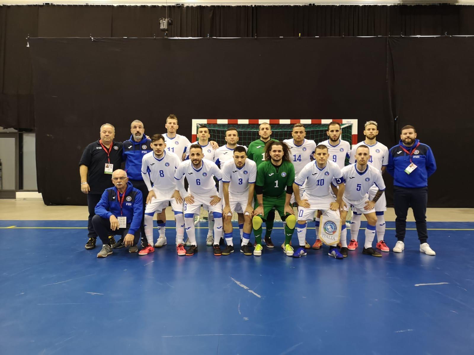 5° Campionato Europeo di Futsal a Tampere. Italia vs Israele 1-0