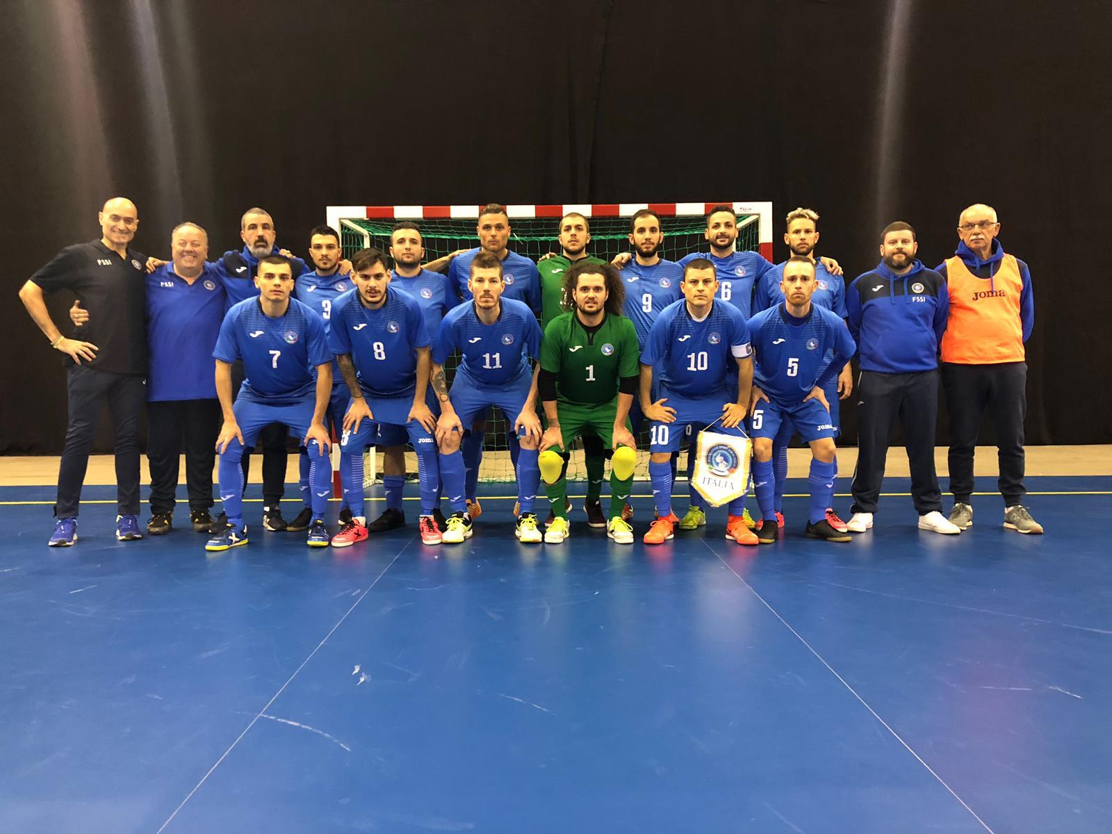 5° Campionato Europeo di Futsal a Tampere. Italia vs Russia 1-4