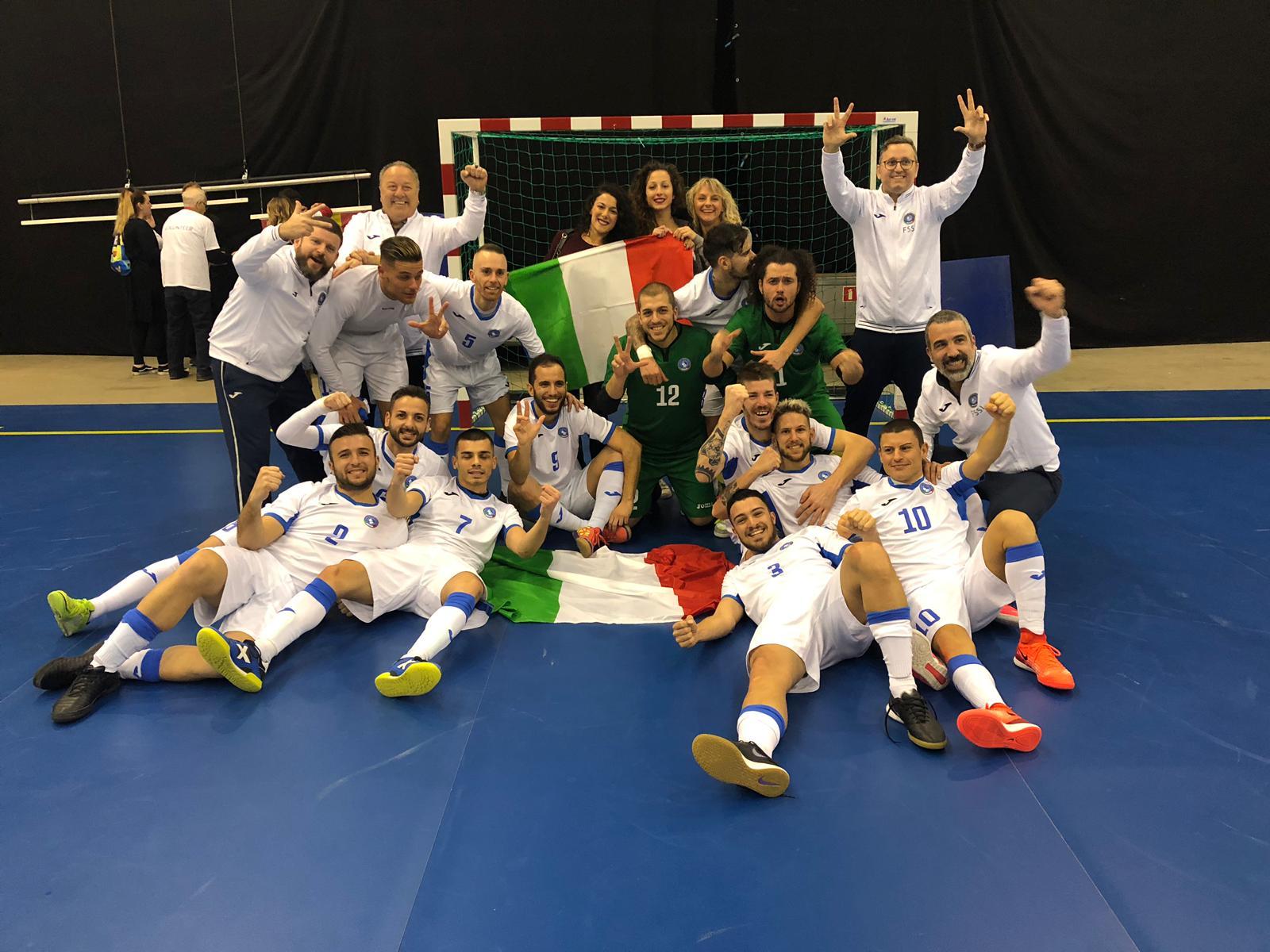 5° Campionato Europeo di Futsal a Tampere. Italia vs Svezia 6-2 e conquista la medaglia di bronzo