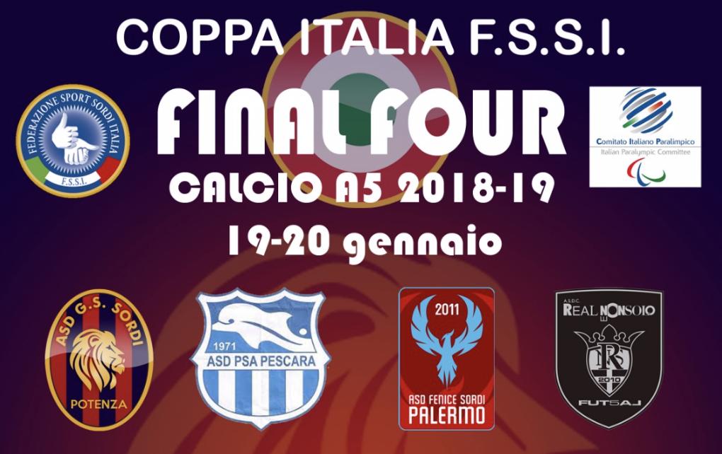 19-20 Gennaio, Potenza (PZ). Coppa Italia FSSI di Calcio A5/M