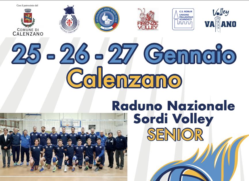 25-27 Gennaio, Calenzano (FI). Raduno della Nazionale di Pallavolo/M