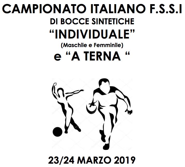 23-24 Marzo, Zelarino (VE). Campionato FSSI di Bocce Sintetiche